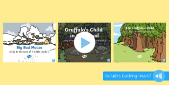 Songs and Rhymes PowerPoints Pack - The Gruffalo's Child, Julia Donaldson, winter, snow, songtime, singing