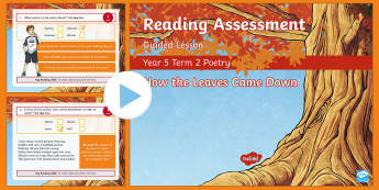Year 5 Reading Assessment Poetry Term 2 Guided Lesson PowerPoint - comprehension, poems, test, interactive, revision, practice, literacy, sats