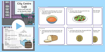 City Centre Cafe Year 2 Numeracy Resource Pack - St Davids day, St Davids Day, St davids day, St David's day, Dewi Sant, St David's Day, st david's day, st davids day, saint davids day, saint david's day, nu