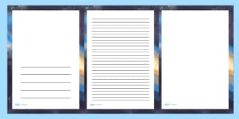 Galaxy Space Page Borders - writing templates, border, space