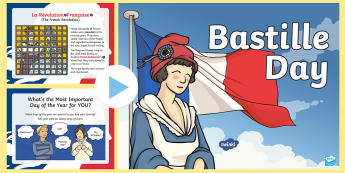 Bastille Day PowerPoint - france, storming of the bastille, french, national day,