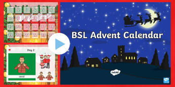 BSL Advent Calendar PowerPoint