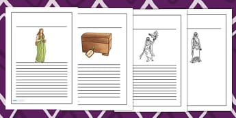 Pandoras Box Ancient Greek Myth Writing Frames - ancient greece