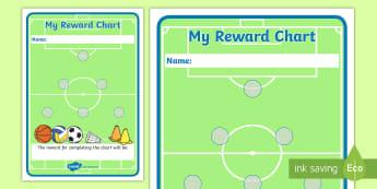 Sport Sticker Reward Chart (15mm) - Sport Reward Chart (15mm), reward chart, chart, sport, reward, 15mm, 15 mm, stickers, twinkl stickers, award, certificate, well done, behaviour management, behaviour, sport, sports, football, netball, gymnastics, a