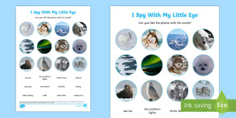 Polar Regions Themed I Spy Photo Activity Activity Sheet - Polar Regions Themed I Spy with My Little Eye Activity - polar regions, arctic, antarctic, i spy, li