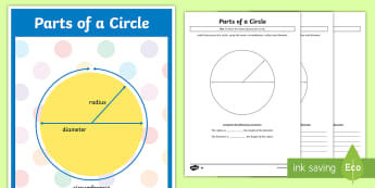 Year 6 Parts of a Circle Resource Pack - Year 6, KS2, Y6, illustrate and name parts of circles, including radius, diameter and circumference