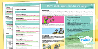 PlanIt Y4 Myths and Legends: Romulus and Remus Topic Overview - Romulus, Remus, literacy, Y4, Year 4, English, planning, Roman, Ancient Rome, mythology,  web, topic