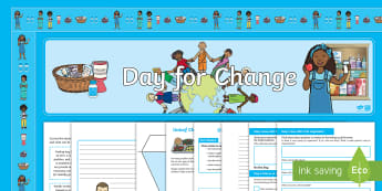 Unicef Day for Change 2017 KS2 Resource Pack - ks2, unicef, day for change, poster, activity, worksheet, activity, activities, display, banner, bor