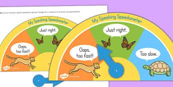 Slow Speaking Speedometer - slow speaking, speedometer, slow, speaking