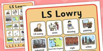 LS Lowry Word Grid - word, grid, word grid, l s lowry, lowry
