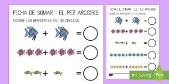 El pez arcoiris Sumar hasta 10