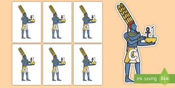 A-Z Alphabet on Egyptian Gods - A-Z, A4, display, Alphabet frieze, Display letters, Letter posters, A-Z letters, Alphabet flashcards