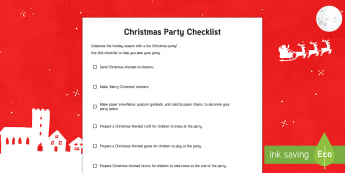 Christmas Party Checklist