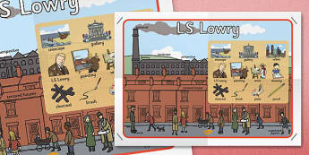 LS Lowry Display Poster - displays, posters, banners, visual