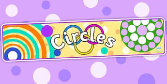 Circles Display Banner - circles display banner, shapes display banner, circles, display banner, circles banners, shapes banners