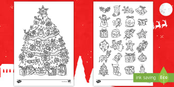 Christmas Mindfulness Advent Calendar Colouring Pages English/Mandarin Chinese - Christmas, Mindfulness, Colouring, Advent Calendar,mindfullness,minfulness,calandar,colering,colourn