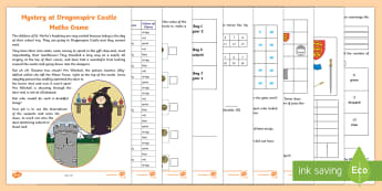 'New Zealand Year 1- 2 Mystery at Dragonspire Castle Maths Game - New Zealand Year 1- 2 Mystery at Dragonspire Castle Maths Game - calculations, problem solving, data