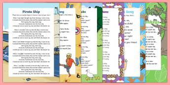 Counting Songs and Rhymes Resource Pack - maths, counting, singing, song time, number