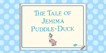 The Tale of Jemima Puddle-Duck eBook - jemima puddle-duck