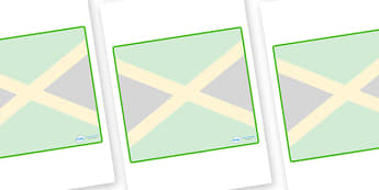 Jamaica Themed Editable Classroom Area Display Sign - Themed Classroom Area Signs, KS1, Banner, Foundation Stage Area Signs, Classroom labels, Area labels, Area Signs, Classroom Areas, Poster, Display, Areas