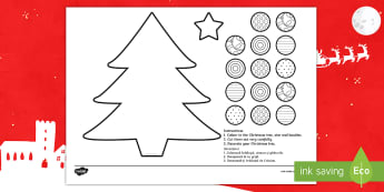 Cutting Skills Christmas Tree Activity English/Romanian - Cutting Skills Christmas Tree Activity - cutting, christmas, xmas, EAL