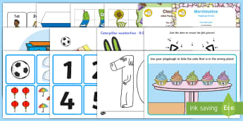 Childminder Number Ordering EYFS Resource Pack - maths, Numeracy, counting, childminding, child minder, number recognition,