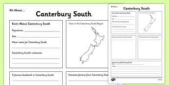 All About Canterbury South Writing Frame - Canterbury South, Anniversary, city, research