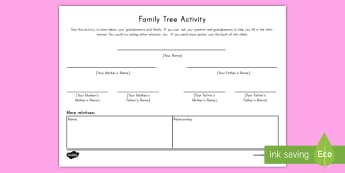 Grandparents Day Family Tree Activity - grandmother, grandfather, September, genealogy, research, questioning, all about me, investigate
