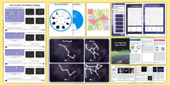KS2 Autumn Fun in the Holidays: Exploring the Night Sky Activity Pack - stars, constellations, orbit, earth, sun, moon, Space