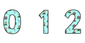 Mary Anning Themed A4 Display Numbers - mary anning, display numbers, themed number, classroom number, numbers for display, a4 numbers, numbers, display