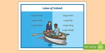 Lakes of Ireland Word Mat