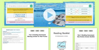 Year 5 Term 2 Non-Fiction Reading Assessment Guided Lesson Teaching Pack - Year 3, Year 4 & Year 5 Reading Assessment Guided Lesson PowerPoints, KS2, reading, read, assessment