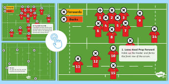 Rugby Union Pitch Picture Hotspots - KS2 Lions Tour Rugby, rugby, lions, new zealand, sam warburton, rugby union, six nations, rugby worl