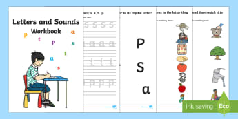 Letters and Sounds (s, a, t, p)  Activity Booklet  - australia, english, letters and sounds, letters, sounds, workbook, activity, booklet,Australia