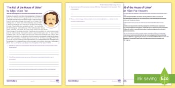Punctuation for Effect: Extract for Analysis Activity Sheet - Punctuation, Prose, KS3, SPAG, Nineteenth Century, Analyse, Explore, Effect