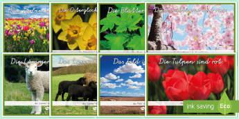 Frühlingsfarben Poster DIN A4 - Frühling, Spring, DAF/ DAZ ,German