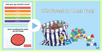 Sweet to Meet You Game PowerPoint - ROI Back to School Resources, skittles game, get to know you, getting to know you, all about me, all