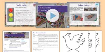Collage Birds Lesson 2: Collages - collage, colour, tone, texture, paper