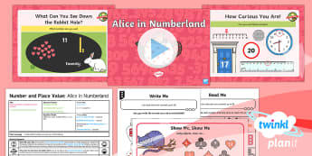 PlanIt Y1 Number and Place Value Count, Read and Write Numbers in Numerals (1) Lesson Pack - Counting, reading numbers, writing numbers, numerals, Alice in Wonderland, year 1, year one, ks1,mat