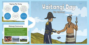 Waitangi Day Information PowerPoint - history, new zealand, maori, waitangi, information, powerpoint