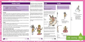 KS2 Hindu Gods Differentiated Fact File