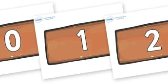 Numbers 0-50 on Bricks - 0-50, foundation stage numeracy, Number recognition, Number flashcards, counting, number frieze, Display numbers, number posters