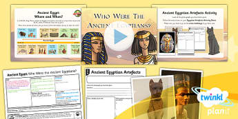 PlanIt - History LKS2 - Ancient Egypt Lesson 1: Who Were the Ancient Egyptians? Lesson Pack