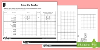 Checking Answers Activity Sheets - Addition and Subtraction, estimation, check, inverse, operation, formal written methods, column addi
