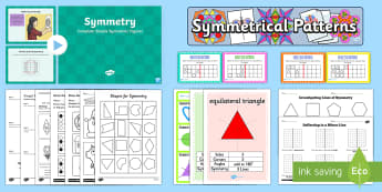 Symmetrical Patterns KS2 - - ks2, symmetrical, patterns, symmetry, maths, shape and space, symmetric, line symmetry