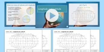 Longitude and Latitude Easter Egg Hunt Activity Pack  - longitude, latitiude, easter, geography