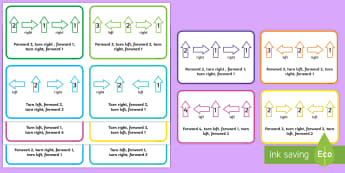 Bee-Bot Direction Cards - Toys, ict, it, technology, bee-bot, directions, forwards, left, right