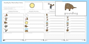 Groundhog Day 'Write the Room' Differentiated Word and Picture Matching Activity Sheet - US Requests, Groundhog day, celebration, groundhog, USA, festival, write the room, writing, workshee