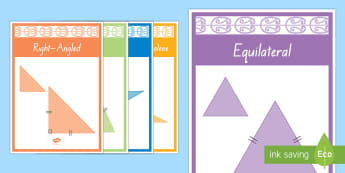 Types of Triangles Display Poster - triangles, geometry, maths, maths moving, shape, 2d shape, nz, new zealand