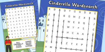 Cinderella Wordsearch - cinderella, wordsearch, words, activity